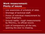work measurement plenty of issues