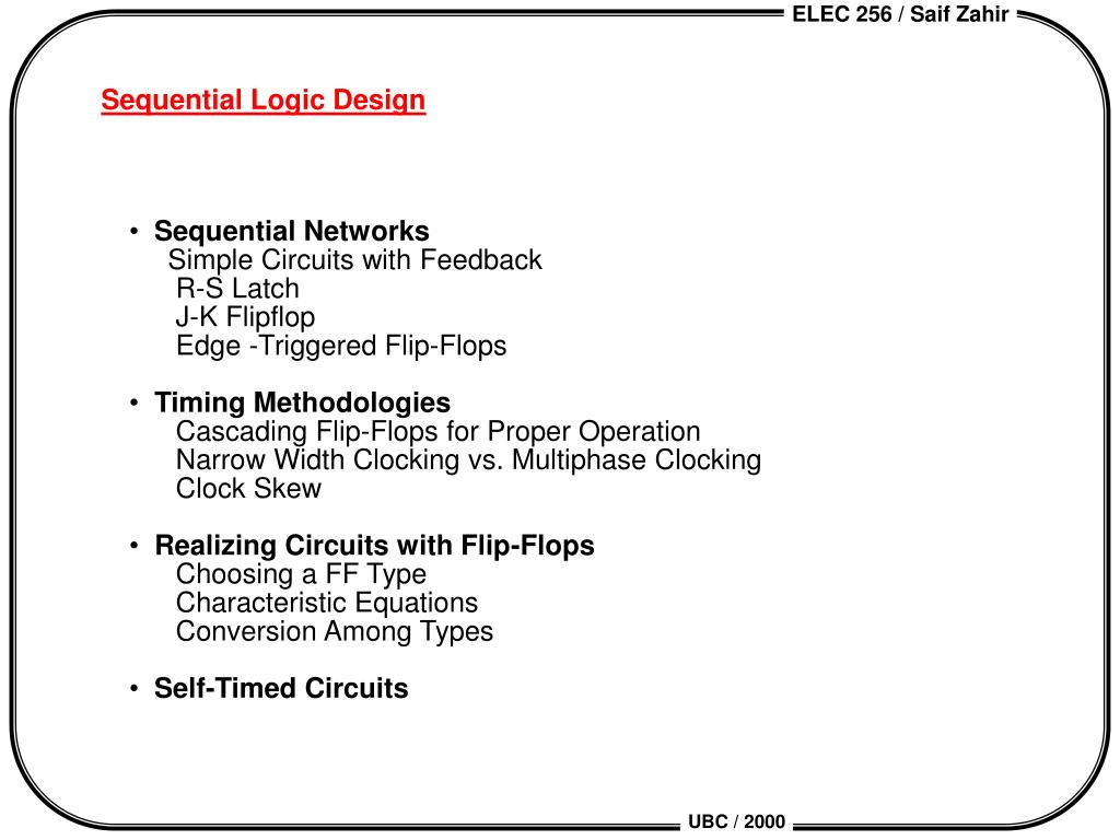 sequential logic design l.