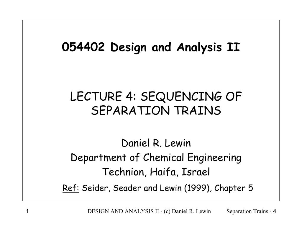 054402 design and analysis ii l.