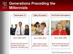 generations preceding the millennials