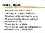 idef0 rules
