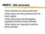 idef0 the process