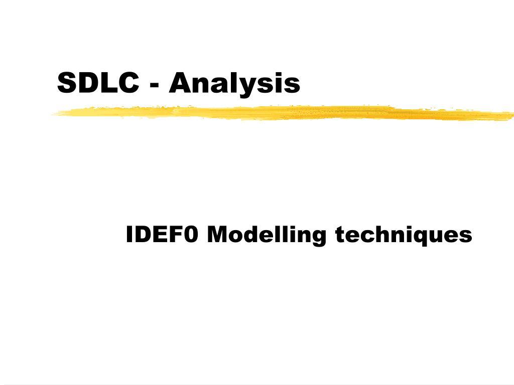 sdlc analysis l.