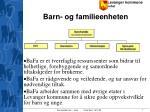 barn og familieenheten