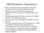 cee electronics conclusions i