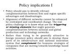 policy implications i