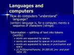 languages and computers
