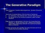 the generative paradigm
