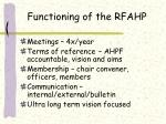 functioning of the rfahp