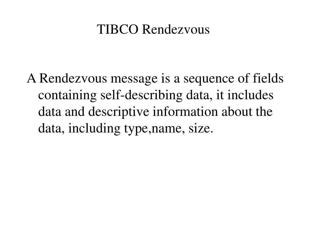tibco rendezvous l.
