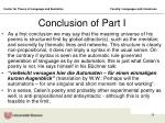 conclusion of part i