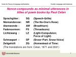 nonce compounds as minimal utterances in titles of poem books by paul celan