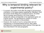 why is temporal binding relevant for experimental poetry