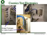 cosmics test electronics