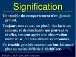 signification