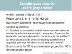 sample questions for exam preparation