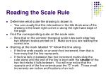 reading the scale rule