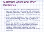 substance abuse and other disabilities11