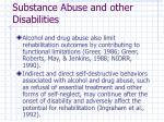 substance abuse and other disabilities12