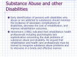 substance abuse and other disabilities13