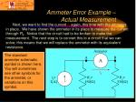 ammeter error example actual measurement