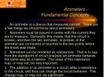 ammeters fundamental concepts