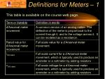 definitions for meters 1