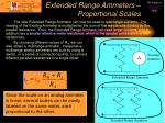 extended range ammeters proportional scales