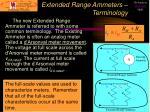 extended range ammeters terminology