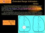 extended range voltmeters notes