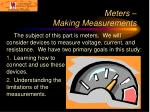 meters making measurements