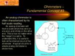 ohmmeters fundamental concept 3