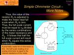 simple ohmmeter circuit more notes