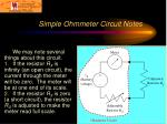 simple ohmmeter circuit notes