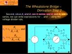 the wheatstone bridge derivation step 2