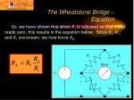 the wheatstone bridge equation