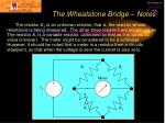 the wheatstone bridge notes