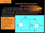 voltmeter error example actual measurement