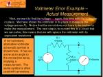 voltmeter error example actual measurement14