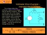 voltmeter error example intended measurement