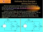 voltmeter error example solving the circuit