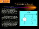 voltmeter error example