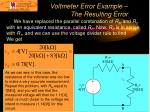 voltmeter error example the resulting error