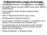 10 moviment obrer locaut llei de fugues