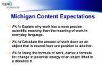 michigan content expectations
