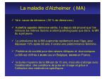 la maladie d alzheimer ma