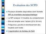 evaluation des scpd