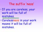 the suffix ness6