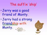 the suffix ship