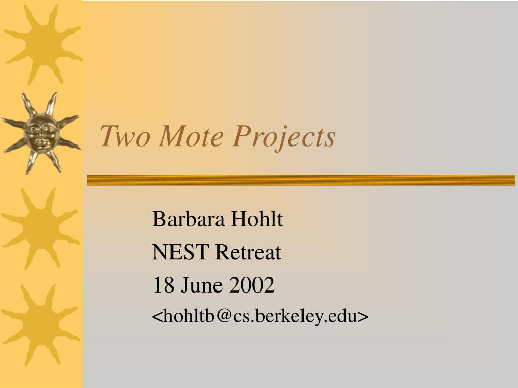 two mote projects l.